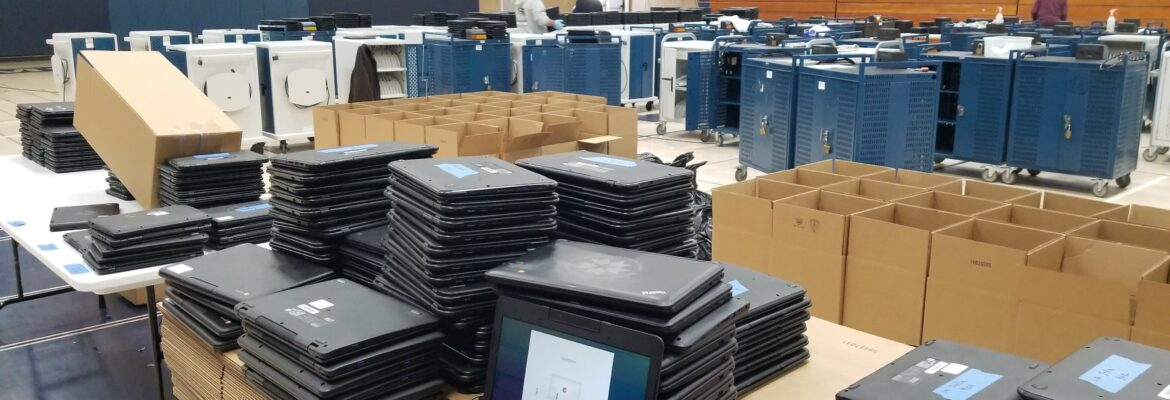 Construction Workers Help Provide Computers to Students  During COVID-19 Pandemic